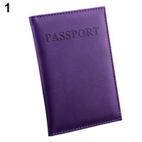 2017  Travel Passport ID Card Cover Holder Case Faux Leather Protector Skin Organizer 9IG7