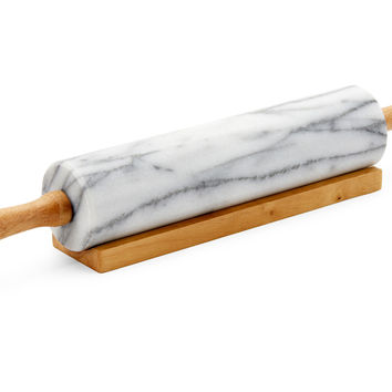 Marble Rolling Pin, White, Rolling Pins