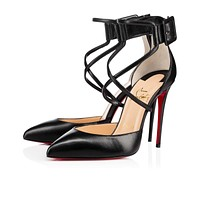 Christian Louboutin Cl Suzanna Black Leather 16w Pumps 3160317bk01