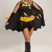 Black soldiers served Batman animation game uniforms temptation Halloween cosplay party dress