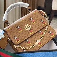 Gucci x Disney high ‮ high end ‬ quality chain handbag shoulder messenger bag