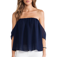 T-Bags LosAngeles Off The Shoulder Top in Navy