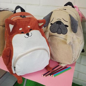 Corduroy Pup Backpack