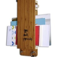 Three by Three Seattle Dry-Erase Entry Butler, 12.5 x 4 x 1 Inches, Bamboo