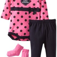 Bon Bebe Baby-girls Newborn Little Princess Polka Dots 3 Piece Pant Set, Multi, 0-3 Months