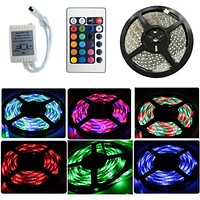 HOT RGB 3528 led strip 300LED 5M RGB +24 key IR Remote non-waterproof led strip + free shipping