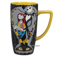 Licensed cool The Nightmare Before Christmas Jack & Sally Ceramic Coffee Cup Mug Disney Store