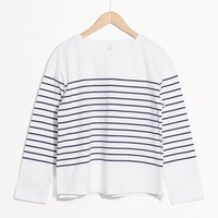 & Other Stories | Striped Shirt | White
