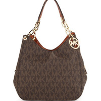 Michael Michael Kors Fulton Large Tote Bag, Brown LAVELIQ
