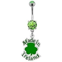 Made in Ireland Belly Button Ring