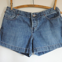 American Eagle 90's Denim Shorts Ladies Distressed Grunge Vintage Denim Jean Shorts size 4