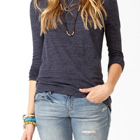 Solid High-Low Top