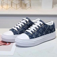 Louis Vuitton Women Fashion Sneakers Sport Shoes