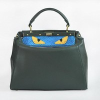 Fendi Women's Fashion Green CLASSIC LEATHER SHOULDER tote handbag bag