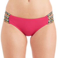 Boho See It to Belize It Swimsuit Bottom in Fuchsia by ModCloth