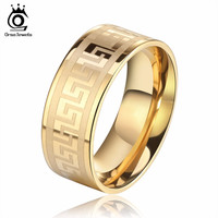 Male Ring Stainless Steel Men's Jewelry
