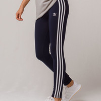 ADIDAS 3 Stripes Navy Womens Leggings