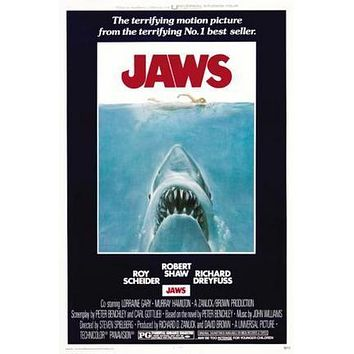 Jaws Movie Poster Puzzle 300 Piece Jigsaw Puzzle