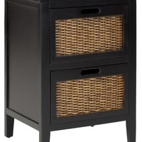 Jonah 2 Drawer End Table Black