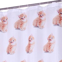 Shower Cat is Watching You Shower Curtain