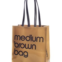 Bloomingdale's Medium Brown Bag Patent Tote | Bloomingdale's