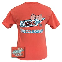 Girlie Girl Originals Tennessee Preppy State Bow Comfort Colors Bright T Shirt