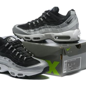 """Nike Air Max 95"" Unisex Sport Casual Multicolor Air Cushion Sneakers Couple Running Shoes"