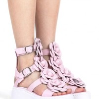 Jeffrey Campbell Shoes PRIMO-FLR New Arrivals in Pink White
