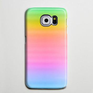 Pastel Pink Rainbow Galaxy S8 Plus Case Galaxy S7 Case Abstract Samsung Galaxy Note 5  Case s6-001