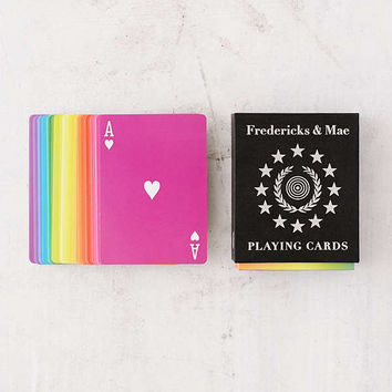 Fredericks & Mae Rainbow Playing Cards   Urban Outfitters