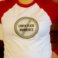 No Chick Flick Moments Long Sleeved T-Shirt.Supernatural Shirt. Customize To Size And Color.