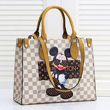 LV Louis Vuitton Ladies'handbag chain bag Printed letters shoulder bag