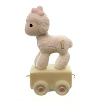 Precious Moments AGE 1 BIRTHDAY TRAIN Porcelain Sam Butcher Lamb 142021