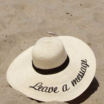 Leave a Message Straw Hat