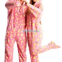 Jumpin Jammerz Pink Duck Hoodie (Large) Footed Pajamas