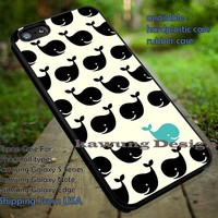 Cute Whales Pattern iPhone 6s 6 6s+ 5c 5s Cases Samsung Galaxy s5 s6 Edge+ NOTE 5 4 3 #art DOP620
