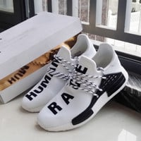 """Adidas"" NMD Human Race White Leisure Running Sports Shoes"