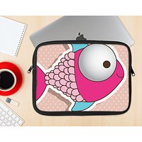 The Colorful Vector Big-Eyed Fish Ink-Fuzed NeoPrene MacBook Laptop Sleeve