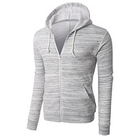 PREMIUM Mens Lightweight Soft Fleece Full Zip Up Hoodie Jacket (CLEARANCE)