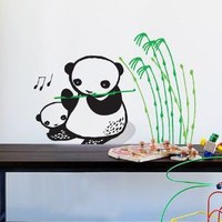 Wee Gallery Musical Pandas Re-Stik movable wall decals by Blik Surface Graphics