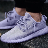 """Adidas"" Women Yeezy Boost Sneakers Running Sports Shoes Purple"