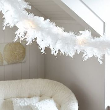 White Feather String Lights
