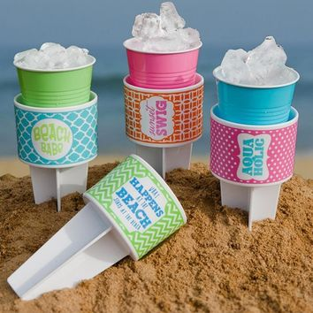 Fun in the Sun Beach Buddy Cup Holders - 4 Styles Available