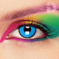 iD Lenses Saw Blue Coloured Contacts