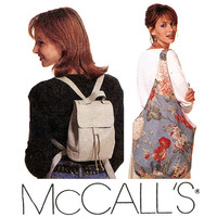 Bags and Purses Pattern Uncut McCalls 7567 Mini Back Packs Hobo Bag Handbags Shoulder Bags Drawstring Bags Bucket Bags Womens Sewing Pattern