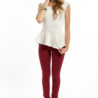 Peplum in Your Step Top $21