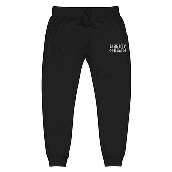 Liberty Or Death Unisex fleece Jogger Embroidered Sweatpants