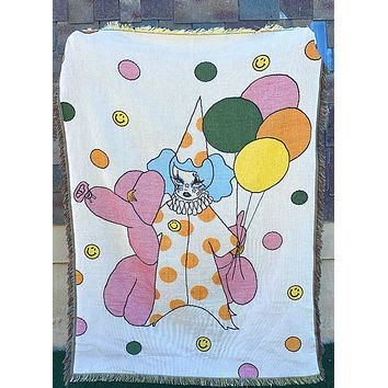Down To Clown Woven Blanket