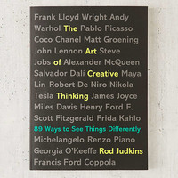 The Art Of Creative Thinking: 89 Ways To See Things Differently By Rod Judkins | Urban Outfitters