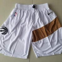 Toronto Raptors White Basketball Swingman Shorts - Best Deal Online